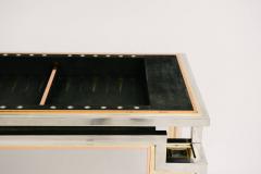 Alain Delon Tri Metal Backgammon Table by Alain Delon for Maison Jansen - 583278