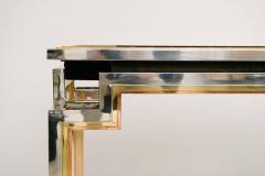 Alain Delon Tri Metal Backgammon Table by Alain Delon for Maison Jansen - 583280