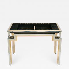 Alain Delon Tri Metal Backgammon Table by Alain Delon for Maison Jansen - 695468