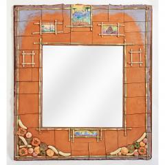 Alain Girel Magnificent Ceramic Mirror by Alain Girel for Hermes - 302253