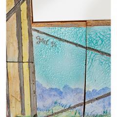 Alain Girel Magnificent Ceramic Mirror by Alain Girel for Hermes - 302317