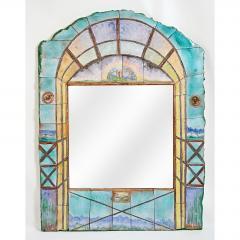 Alain Girel Magnificent Ceramic Mirror by Alain Girel for Hermes - 302318