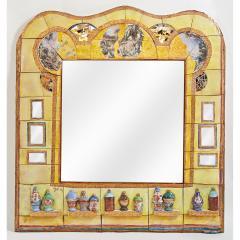 Alain Girel Magnificent Yellow Ceramic Mirror by Alain Girel for Hermes 1994 - 299976