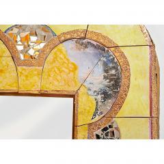 Alain Girel Magnificent Yellow Ceramic Mirror by Alain Girel for Hermes 1994 - 299978
