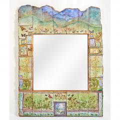 Alain Girel Spectacular Ceramic Mirror by Alain Girel for Hermes - 299970
