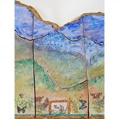Alain Girel Spectacular Ceramic Mirror by Alain Girel for Hermes - 299974