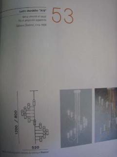 Alain Richard French Mid Century Minimalist A16 Chandelier by Alain Richard for Disderot - 1770781
