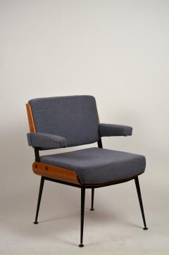 Alain Richard Impeccable French 1960s Bentwood Armchair by Alain Richard - 1145758