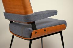 Alain Richard Impeccable French 1960s Bentwood Armchair by Alain Richard - 1145777