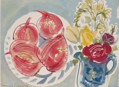 Alan Halliday Alan Halliday A collection of Watercolours of Fruits and Flowers  - 2111618