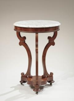 Albert Brown Classical Marble Top Mahogany Gueridon - 718705