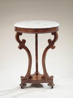 Albert Brown Classical Marble Top Mahogany Gueridon - 718710