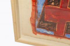 Albert Chubac Albert Chubac Painting Mixed Media circa 1965 France - 1019898
