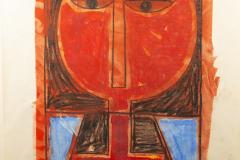 Albert Chubac Albert Chubac Painting Mixed Media circa 1965 France - 1019900