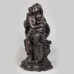 Albert Ernest Carrier Belleuse A Fine Quality Patinated Bronze Sculpture Depicting Mother and Child - 1468583