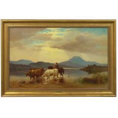 Albert Fitch Bellows Homeward Bound 1863 American Landscape Painting by Albert Fitch Bellows - 1094257