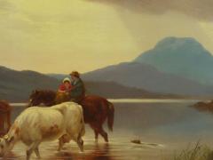 Albert Fitch Bellows Homeward Bound 1863 American Landscape Painting by Albert Fitch Bellows - 1094261