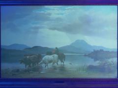 Albert Fitch Bellows Homeward Bound 1863 American Landscape Painting by Albert Fitch Bellows - 1094267