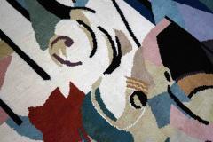 Albert Gleizes Limited Edition Artistic Handmade Wool Rug after Albert Gleizes N 39 - 1022905