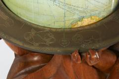 Albert Poels Philips Carved Wood Sculptural Globe by Albert Poels Belgium 1939 - 300108