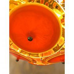 Alberto Dona Alberto Don Contemporary Nickel Brown Orange Yellow Murano Glass Chandelier - 676842