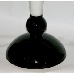 Alberto Dona Alberto Dona Monumental Art Deco Black and White Murano Glass Table Floor Lamps - 558178