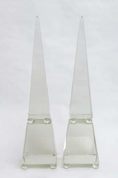Alberto Dona Fine Pair of Monumental Murano Glass Obelisks by Alberto Dona - 348750