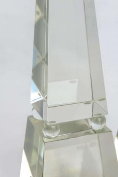 Alberto Dona Fine Pair of Monumental Murano Glass Obelisks by Alberto Dona - 348751