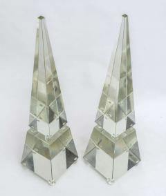 Alberto Dona Fine Pair of Monumental Murano Glass Obelisks by Alberto Dona - 348753