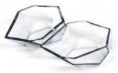 Alberto Dona Geometric Murano Glass Bowls by Alberto Dona - 639494