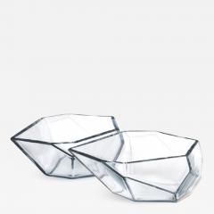 Alberto Dona Geometric Murano Glass Bowls by Alberto Dona - 641551