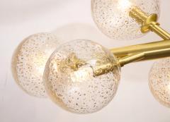 Alberto Dona Italian Murano Brass 12 Light Globe Chandelier By Alberto Dona - 1240599