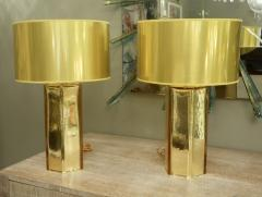 Alberto Dona PaIr of Italian Gold Murano Mercury Glass Table Lamps Signed by Alberto Dona - 912413