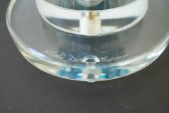 Alberto Dona Pair of Aquamarine Blue or Blue Topaz Murano Glass Lamps Italy Signed - 1607502