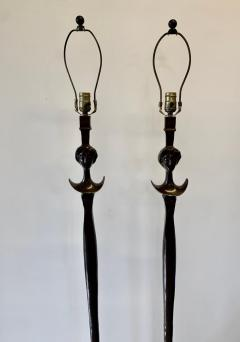 Alberto Giacometti Pair of Bronze Floor Lamps in the Style Giacometti - 1710405