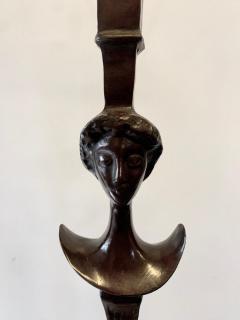 Alberto Giacometti Pair of Bronze Floor Lamps in the Style Giacometti - 1710406