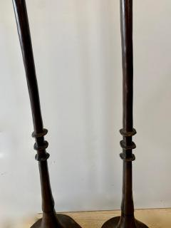 Alberto Giacometti Pair of Bronze Floor Lamps in the Style Giacometti - 1710416