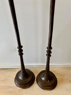 Alberto Giacometti Pair of Bronze Floor Lamps in the Style Giacometti - 1710420