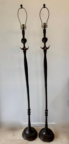 Alberto Giacometti Pair of Bronze Floor Lamps in the Style Giacometti - 1710422