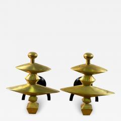 Alberto Giacometti Pair of Sculptural Andirons in the Manner of Alberto Giacometti - 1225916