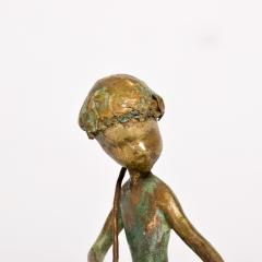 Alberto Giacometti Poetic Bronze Sculpture Boy in Tree with Dog Giacometti Figural Style 1940s - 1604650