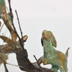 Alberto Giacometti Poetic Bronze Sculpture Boy in Tree with Dog Giacometti Figural Style 1940s - 1604652