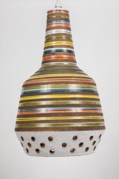 Aldo Londi 1950s Aldo Londi Ceramic Bitossi Pendant Lamp for Italian Raymor - 983364
