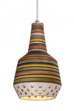 Aldo Londi 1950s Aldo Londi Ceramic Bitossi Pendant Lamp for Italian Raymor - 983365