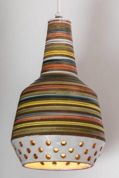 Aldo Londi 1950s Aldo Londi Ceramic Bitossi Pendant Lamp for Italian Raymor - 983366