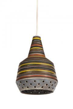 Aldo Londi 1950s Aldo Londi Ceramic Bitossi Pendant Lamp for Italian Raymor - 983367