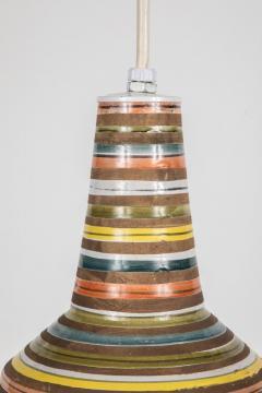 Aldo Londi 1950s Aldo Londi Ceramic Bitossi Pendant Lamp for Italian Raymor - 983372