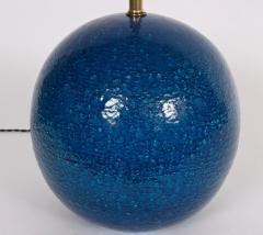 Aldo Londi Aldo Londi for Bitossi Persian Blue Ball Table Lamp circa 1950s - 1583170