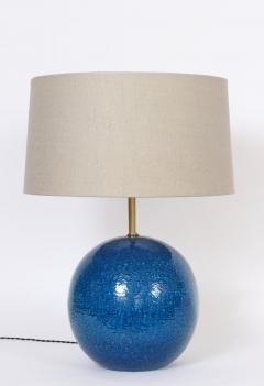 Aldo Londi Aldo Londi for Bitossi Persian Blue Ball Table Lamp circa 1950s - 1583171