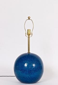 Aldo Londi Aldo Londi for Bitossi Persian Blue Ball Table Lamp circa 1950s - 1583173
